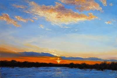 Winter Sunset in Skillman, 23x30