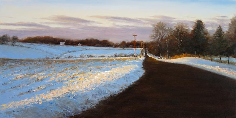 Cider Mill Road in Winter