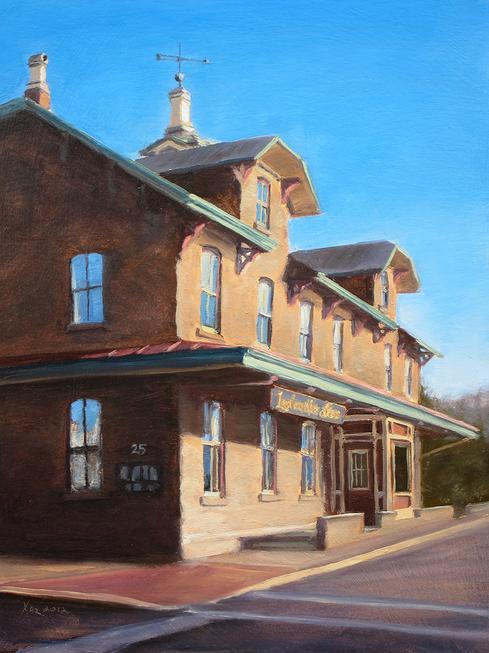 """Joe For Oil >> """"Lambertville Station"""" 8x6 in. Oil on Wood Panel - Landscape Paintings by Joe Kazimierczyk"""