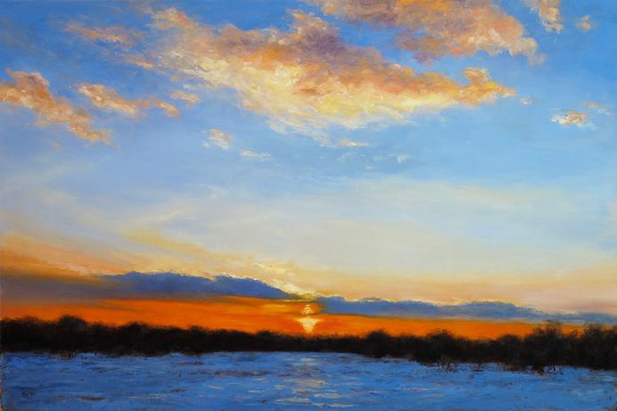 Winter Sunset, Skillman